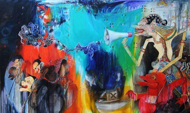 Wayan Redika, Slenco, 2012, Oil Acrylic on Canvas, 150x200 cm
