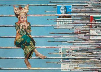 Wayan Redika, Contemplation, 2009, Oil on Canvas, 125x180 cm
