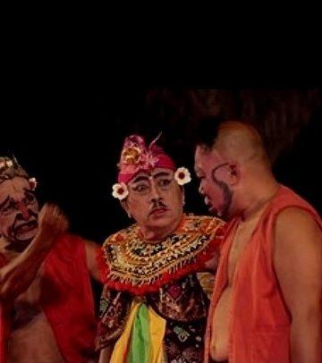 Pasangan pemain drama gong legendaris Petruk (Nyoman Subrata), Raja Buduh (alm. Gede Yudana), Dolar (alm. Wayan Tarma). Sumber foto internet