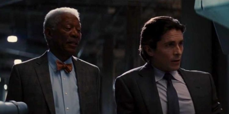 Bruce Wayne - Lucius Fox  dalam The Dark Knight/net