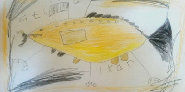 Lukisan Ikan Robot karya Atlisna