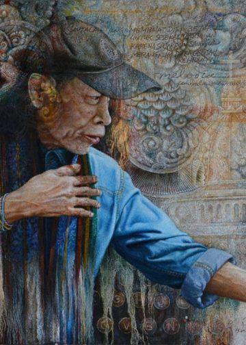 Umbu Landu Paranggi/Lukisan Wayan Redika, 2016