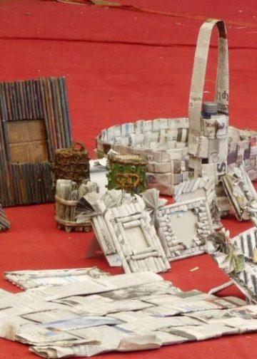Hasil kreativitas anak-anak saat workshop di Taman Budaya Denpasar