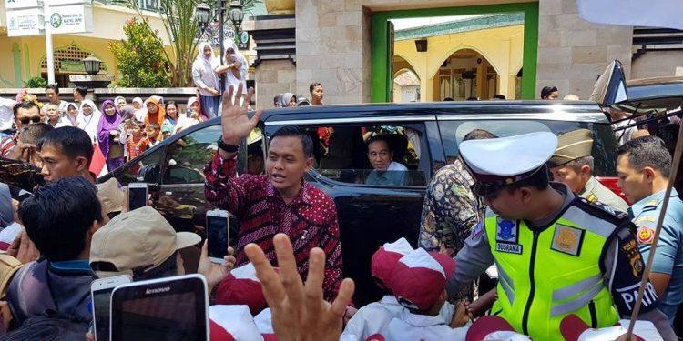 Kunjungan Presiden Jokowi ke Singaraja, 22 September 2017. /Foto: FB/Putu Swastika