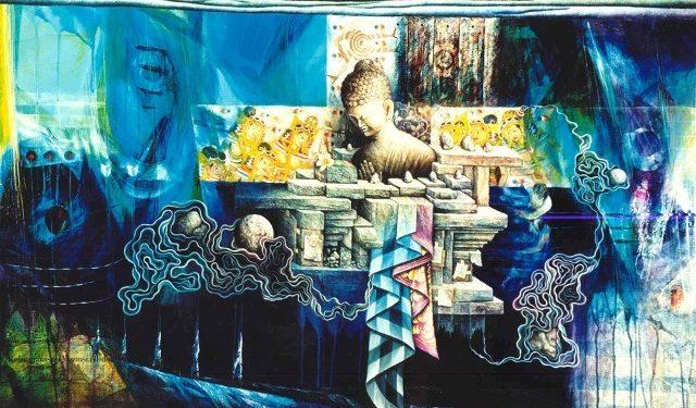 Wayan Redika. Purity-of-Universe-2002-Oil-Acrylic-on-Canvas-100x135cm