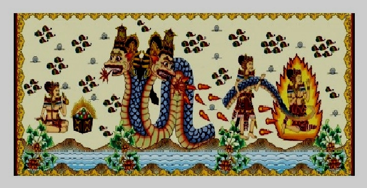 Lukisan cerita rakyat Manik Angkeran. /Foto: Google