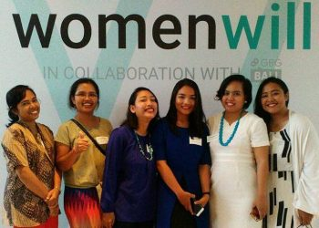 Berpose usai acara  workshop Google Business Group Womenwill di Seminyak, Kuta, Bali