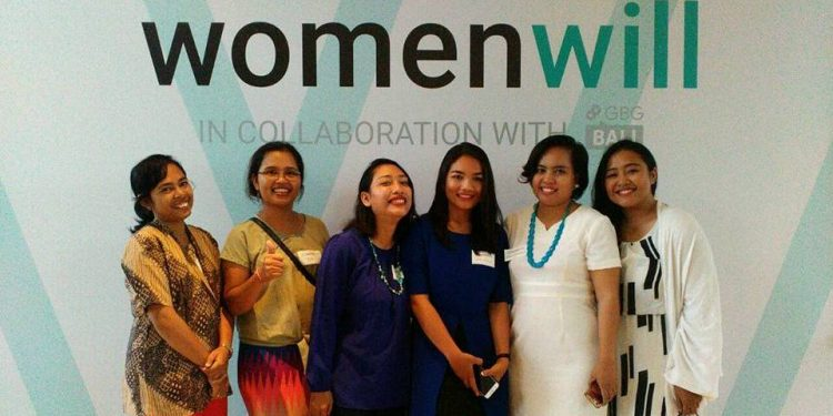 Berpose usai acara  workshop Google Business Group Womenwill di Seminyak, Kuta, Bali