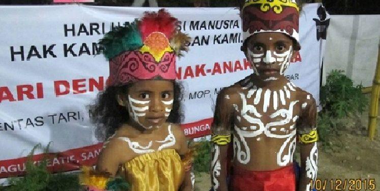 Anak-anak Papua. /Foto: Dok. Sekolah Bunga Papua