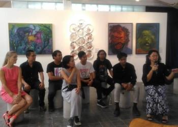 Konfrensi pers Denpasar Art+Design tahun 2018 di Cush Cush Galery