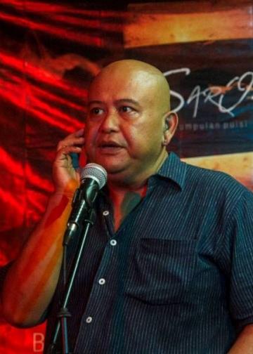 Jun (penulis) saat menyampaiakn orasi di JKP. (Foto: Phalayasa Sukmakarsa)