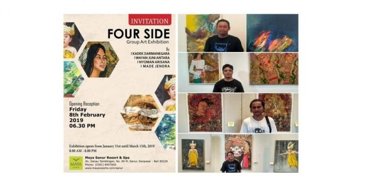 Pameran empat pelukis, yakni  Kadek Darmanegara, Made Jendra, Wayan Juni Antara dan Nyoman Arisana,