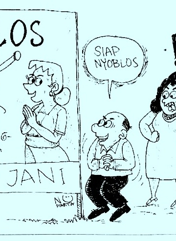 Kartun I Wayan Nuriarta, dimuat pertama kali di Bali Post, 10 Februari 2019