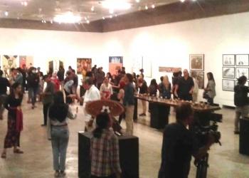 Suasana pameran kartun ber(b)isik di Bentara Budaya Bali