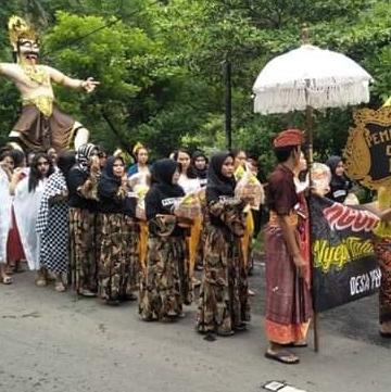 Pawai Ogoh-ogoh di Desa Pemuteran, Gerokgak, Buleleng, Bali,  Rabu 6/3/2019 (Foto: Dok Syarifuddin)