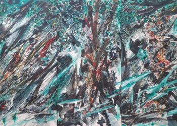 Pameran Sumadiyasa_Mother Tree, 2019, Acrylic on Canvas, 400hight x600wide cm