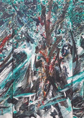 Pameran Sumadiyasa_Mother Tree, 2019, Acrylic on Canvas, 400hight x600wide cm