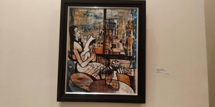 salah satu lukisan milik I Made Duatmika yang dipamerkan di Galeri Maya Sanur Resort & Spa