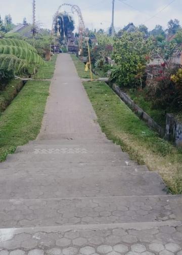 Suasana di Desa Pengotan yang mirip dengan Desa Penglipuran, Bangli