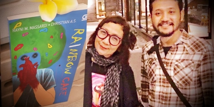 novel Rainbow Cake (2019) karya kolaborasi Rayni N. Massardi dan Christyan AS.