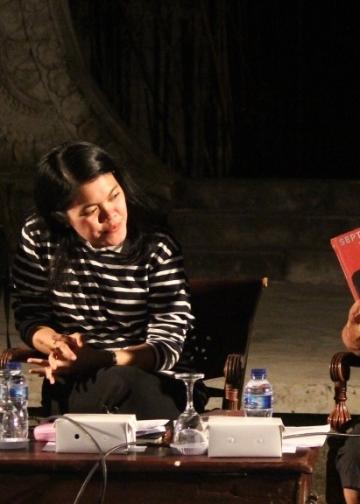 Dr. Nyoman Wijaya, dan sastrawan Noorca Massardi