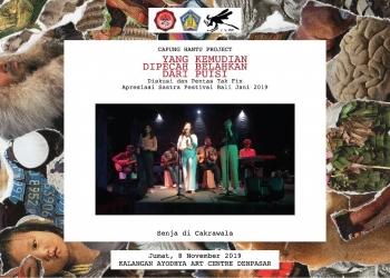 Pementasan Musikalisasi Puisi Senja di Cakrawala pada Festival Seni Bali Jani 2019