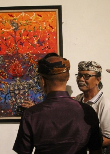 "Sanggar Seni Mangurupa, Badung, menggelar pameran bersama bertajuk ""Beludru Project: Sustainability Spirit of Art in Bali""  di Bentara Budaya Bali"