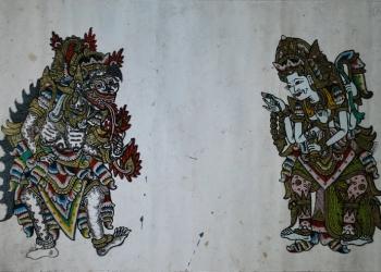 Foto ilustrasi: Dewi Durga, lukisan wayang kaca Nagasepaha, Karya Made Wijana, murid SMK Sukasada