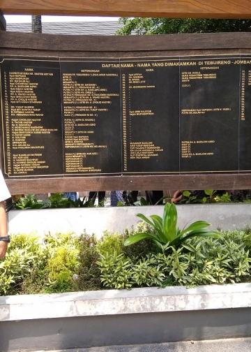 Penulis berpose di areal Makam Gus Dur