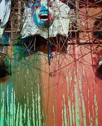 Seni instalasi karya Nyoman Erawan