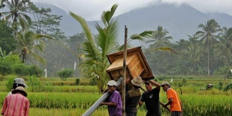 Warga banjar/warga subak membangun Rubuha, Rumah Burung Hantu (Foto: IG Made Jonita)