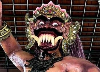 Ogoh-ogoh karya anak-anak muda Suka Duka Hindu Dharma Banjar Jakarta Utara