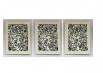 Salah satu lukisan dalam pameran seni rupa di Undiksha Singaraja