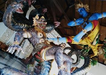 Ogoh-ogoh ST. PUTRA YASA di Banjar Pengiasan, Dauh Puri Kauh Denpasar Barat [Foto Dian]