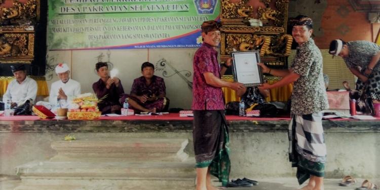 Acara pertanggungjawaban di LPD Desa Adat Selatnyuhan, Desa Pengiangan, Kecamatan Susut, Kabupaten Bangli,
