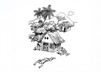 Ilustrasi oleh Adi Permadi dalam buku 'JAYAPRANA' yang diceritakan kembali oleh Atisah, diterbitkan oleh DEPARTEMEN PENDIDIKAN NASIONAL PUSAT PEMBINAAN DAN PENGEMBANGAN BAHASA DEPARTEMEN PENDIDIKAN NASIONAL, JAKARTA, 2000.