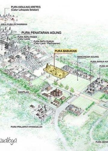 Gambar Perspektif Pura Agung Besakih (Sketsa Made Widnyana Sudibya)