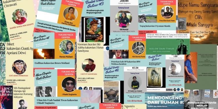 Poster kegiatan sastra online yang bertebaran di media sosial