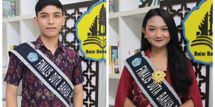 Hery dan Trisna --- Sumber foto : akun instagram resmi Duta Bahasa Provinsi Bali