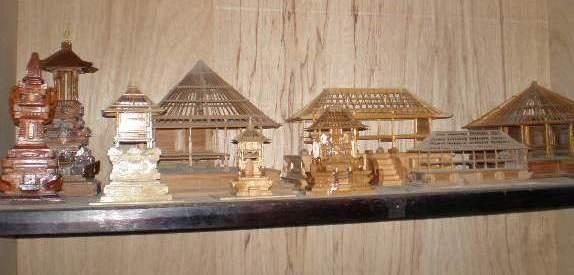 Kumpulan tugas maket mahasiswa Arsitektur , Universitas Dwijendra, Bali.