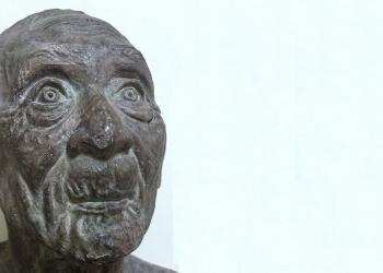 Salah satu patung yang dipamerkan dalam Pameran Seni Rupa di Undiksha Singaraja,  27 November 2019 [Foto Mursal Buyung]