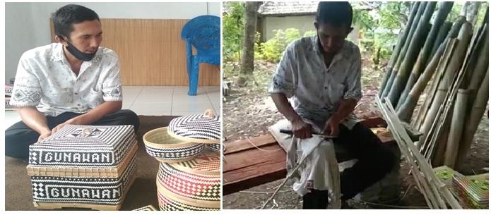 Perajin anyaman bambu dari Desa Tigawasa, Buleleng