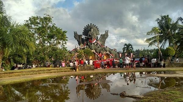 Salah satu patung ikon Kota Tabanan [Foto Radar Bali]