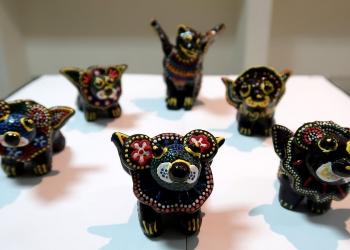 Karya keramik dalam pameran seni rupa di Undiksha