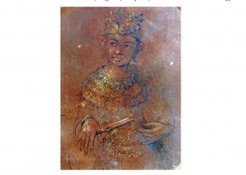 Karya Ida Bagus Tugur yang tersimpan di rumah I Gusti Made Deblog Arsip Komunitas Gurat Institute