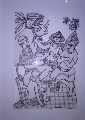 Pendekatan Dialogis Sokola. Gambar dalam tulisan ini diambil saat pameran seni yang diadakan di Kulidan Kitchen and Space tanggal 12 Februari 2020