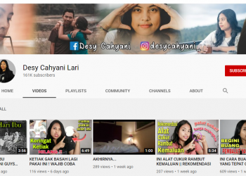 Tangkapan layar akun youtube Desy Cahyani Lari
