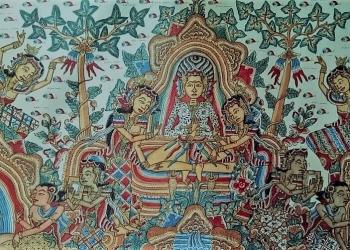 Ilustrasi; Lukisan Kamasan Arjuna Bertapa [diambil dari akun Facebook Sutasoma Kamasan