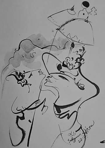 Sketsa Nyoman Wirata
