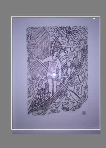Ilustrasi berjudul Memahami Komunitas oleh  Oceu Apristawijaya